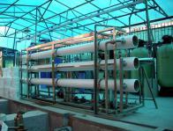 石家庄电镀厂废水零排放设备安装中